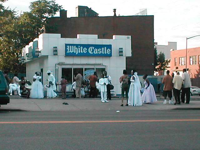ghetto wedding reception at white castle